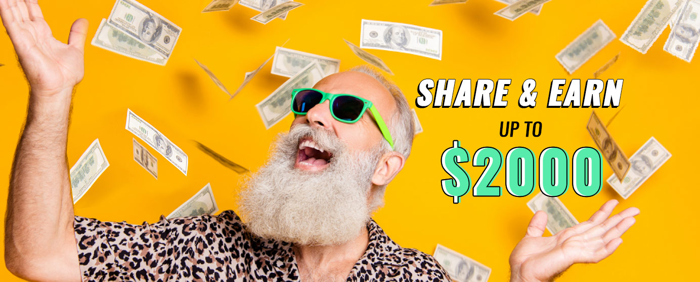 Join the most rewarding cashback affiliate program with a click and share !