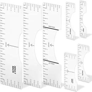 7 Pcs Tshirt Ruler Graphics Tshirt Ruler Guide White Tshirt Ruler Guide For Vinyl Pvc Tshirt Ruler For Heat Press Light T Shirt Rulers To Center Vinyl Tshirt Alignment Tool Of Different